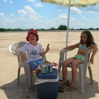Fun on the Mississippi River (sandbar) Beach
